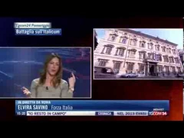 On Elvira Savino - Forza Italia - TGCOM24 23/01/2014
