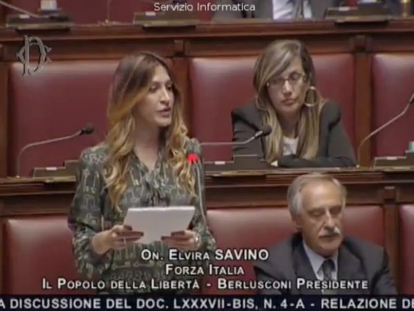 Intervento On. ELVIRA SAVINO (Forza Italia) - 30/03/2016